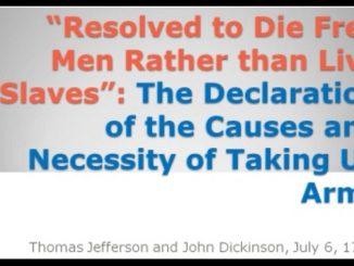 Declarations causes necessity