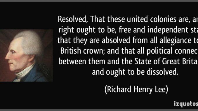 richard henry lee resolution