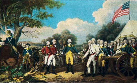 John Burgoyne surrenders
